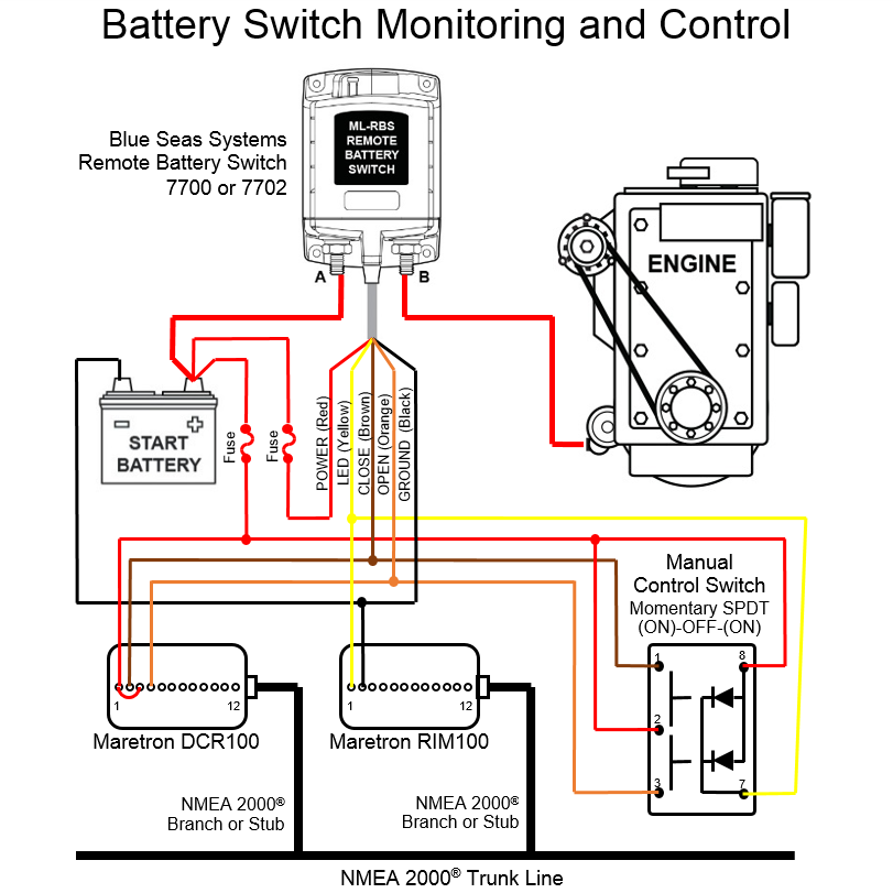 wiring diagram for toggle relay switch with Batteryswitchmonitoringcontrolintermediatesystem on Blue Sea Fuse Block Install Questions further How To Wire A Leviton Illuminated Light Switch Wiring Diagrams moreover Hid Relay Wiring Diagram also Turn Signal1 further Page1.