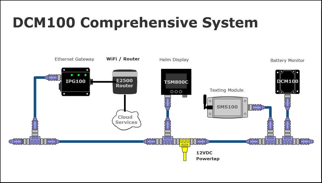 maretron direct current monitor dcm100 network diagram