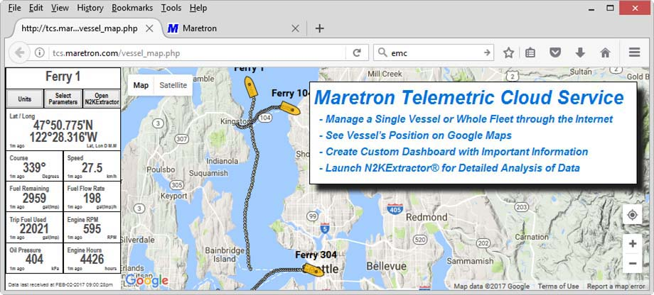 Maretron Telemetric Cloud Service