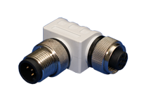 Micro/Mid 90° Male to Female Metal Connector