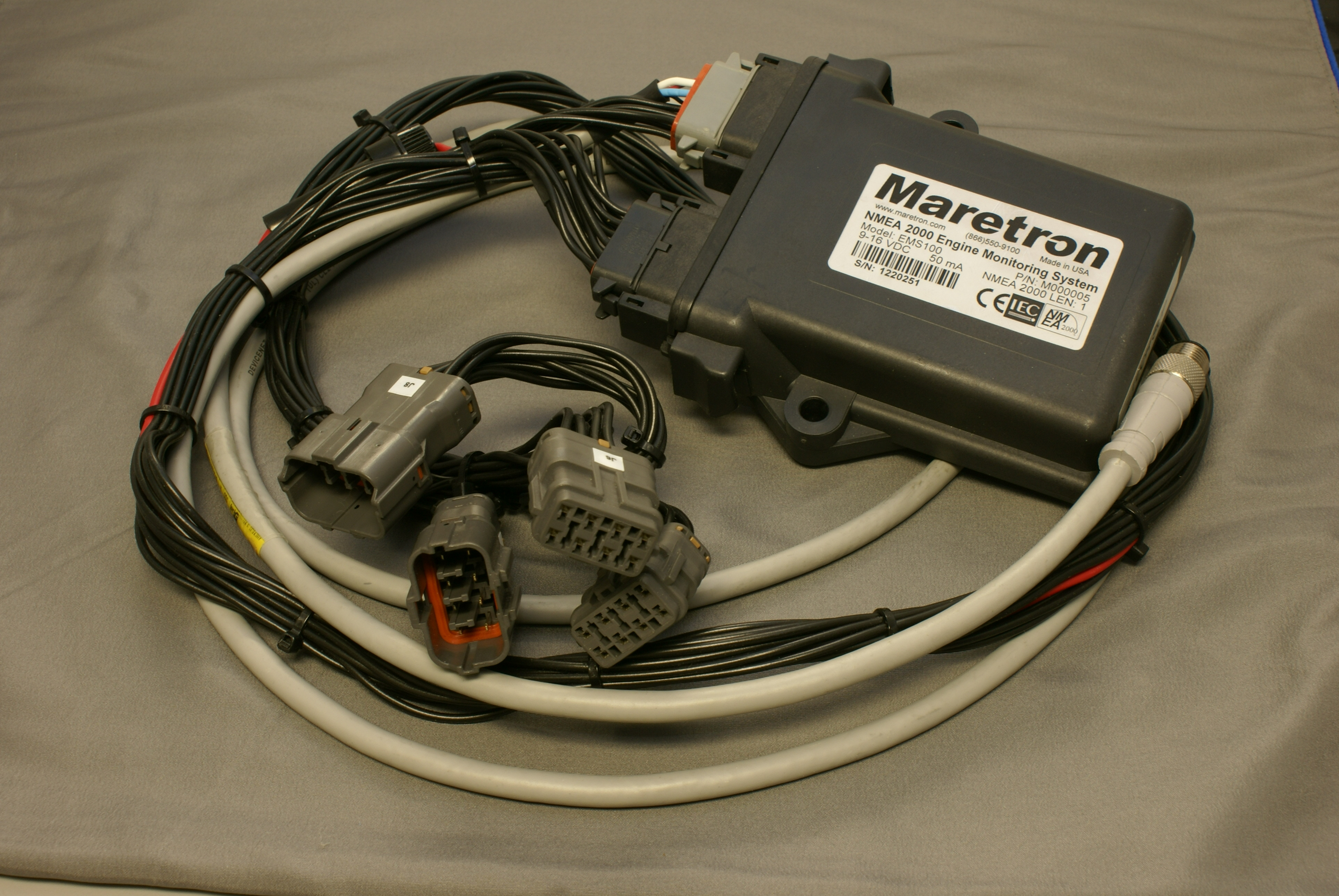 EMS100_Harness maretron knowledge base questions Starter Solenoid Wiring Diagram at crackthecode.co