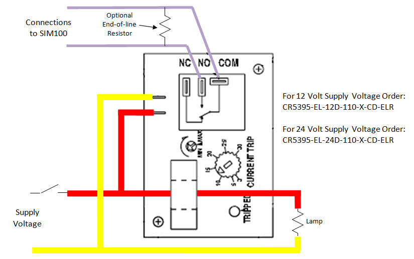can i use the sim100 to tell whether a bulb is burnt out print view rh maretron com CR Magnetics Current Sensing Relay current sensing relay circuit