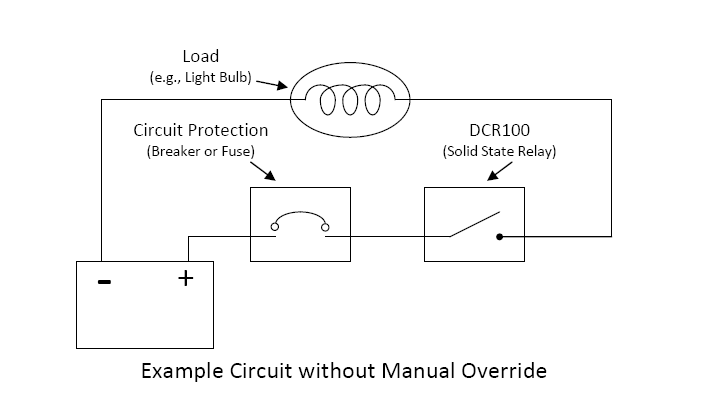 Phenomenal Is It Possible To Wire A Manual Override Switch Around The Dcr100 Wiring 101 Capemaxxcnl