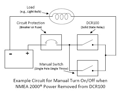 is it possible to wire a manual override switch around the dcr100 the third diagram shows a double pole triple throw dp3t switch added to the circuit this switch allows the dcr100 to work in its normal mode under