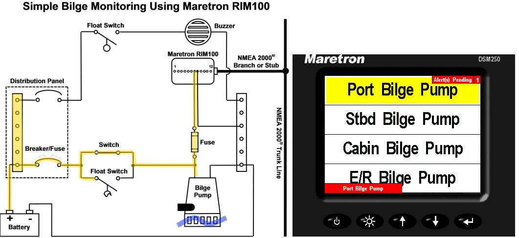 How Do I Show Simple Bilge Information On Mareton U2019s Dsm150 Or Dsm250 Displays