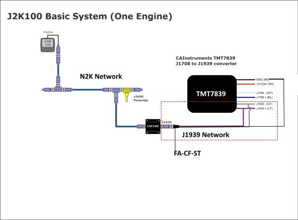 can the j2k100 connect to third party protocol converters that rh maretron com J1587 Connector Deutsch J1939 Connectors