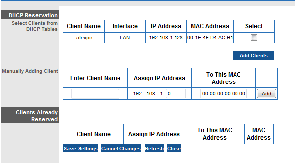 how to add mac address to linksys router