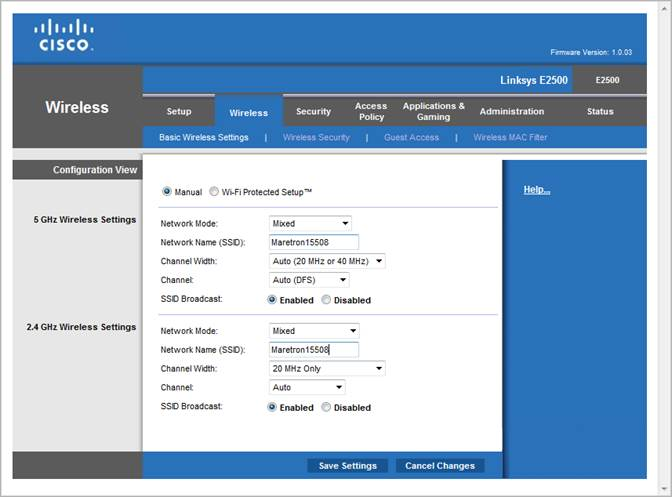 Linksys® E2500 Wireless-N Router Configuration Guide